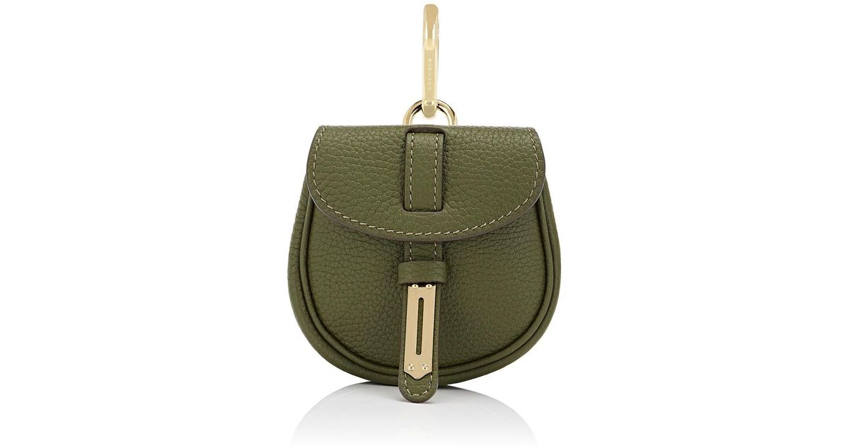 5f1dfa7de22 Fontana Milano 1915 - Green Mimosa Mini Leather Pouch Bag Charm - Lyst
