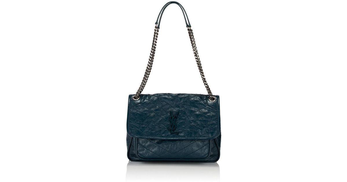 Saint Laurent Niki Medium Leather Shoulder Bag in Blue - Lyst c76db6b7b70ab