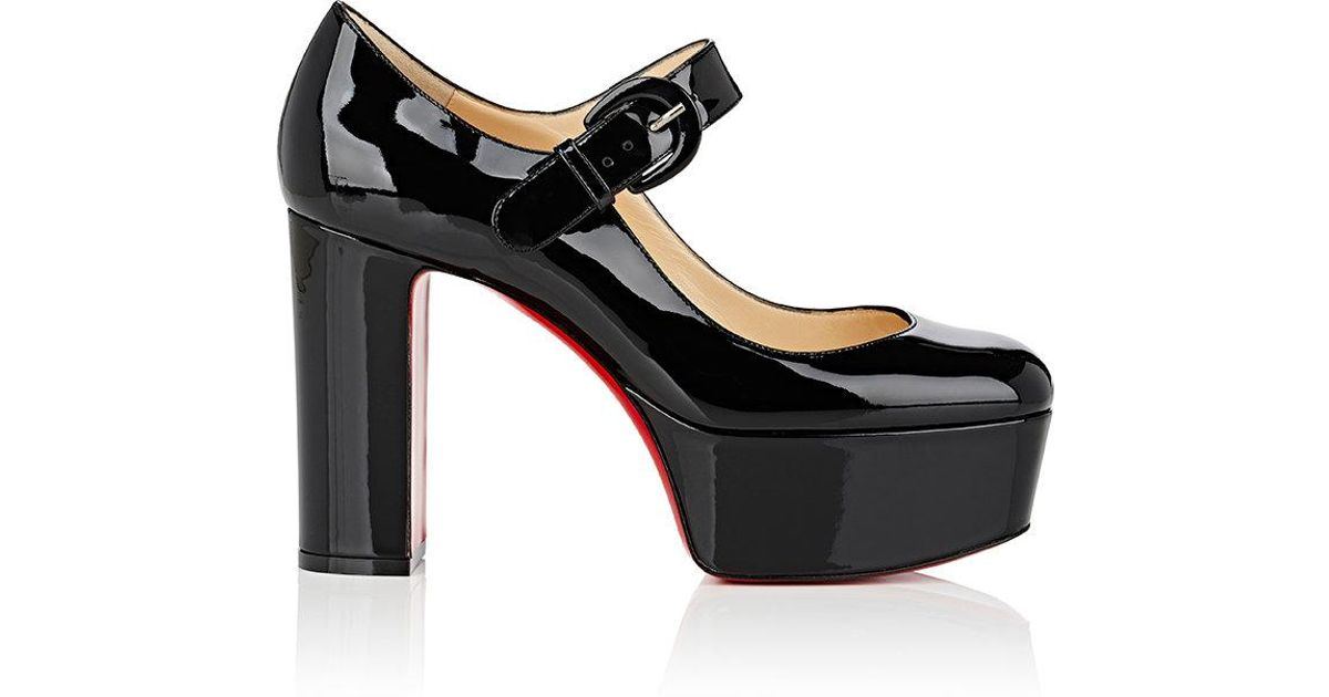 promo code 4afd1 e3775 Christian Louboutin Black Mj Goes High Mary Jane Pumps