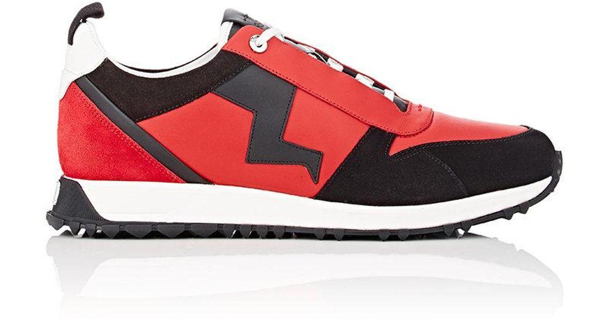 53cb583f4a02 Lyst - Fendi Zigzag in Red for Men