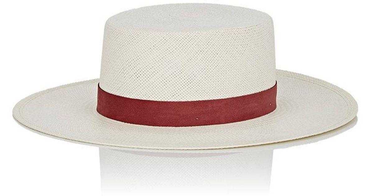 Lyst - Janessa Leone Zinnia Bolero Hat in White 1141321362c6