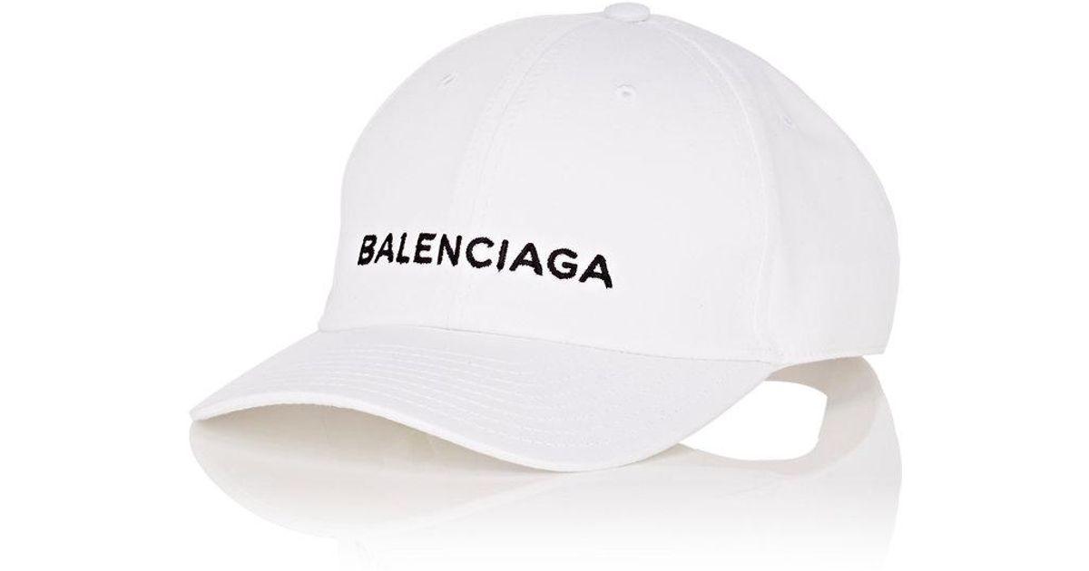 Lyst - Balenciaga Baseball Cap in White for Men ec07728a6e6