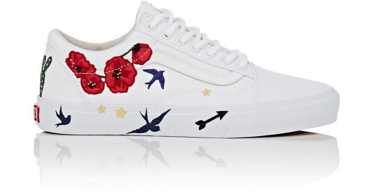 7be136bd8a0 Vans Old Skool Desert Embellish Sneakers in White for Men - Lyst