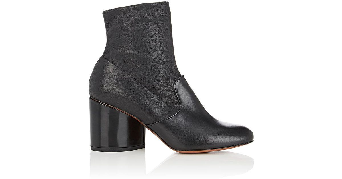 20c49dfb7b6 Lyst - Robert Clergerie Koss Leather Ankle Boots in Black