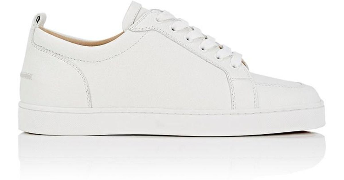 80ee25ca913 Lyst - Christian Louboutin Rantulow Flat Leather Sneakers in White for Men