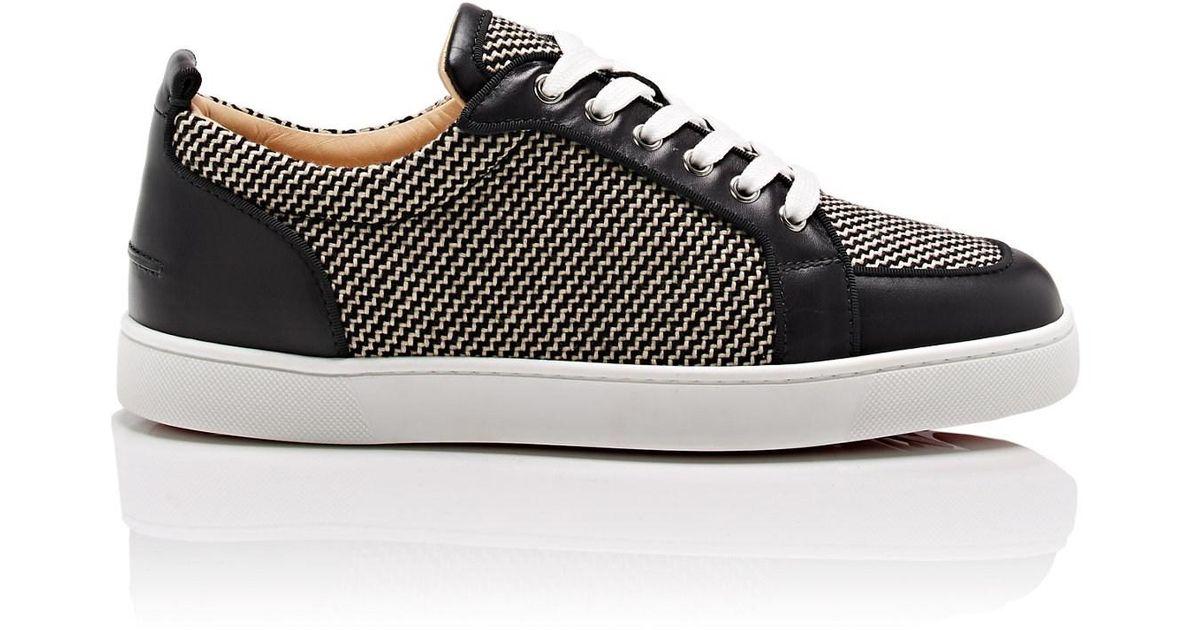 size 40 6ab11 a6321 Christian Louboutin Black Rantulow Orlato Flat Sneakers for men