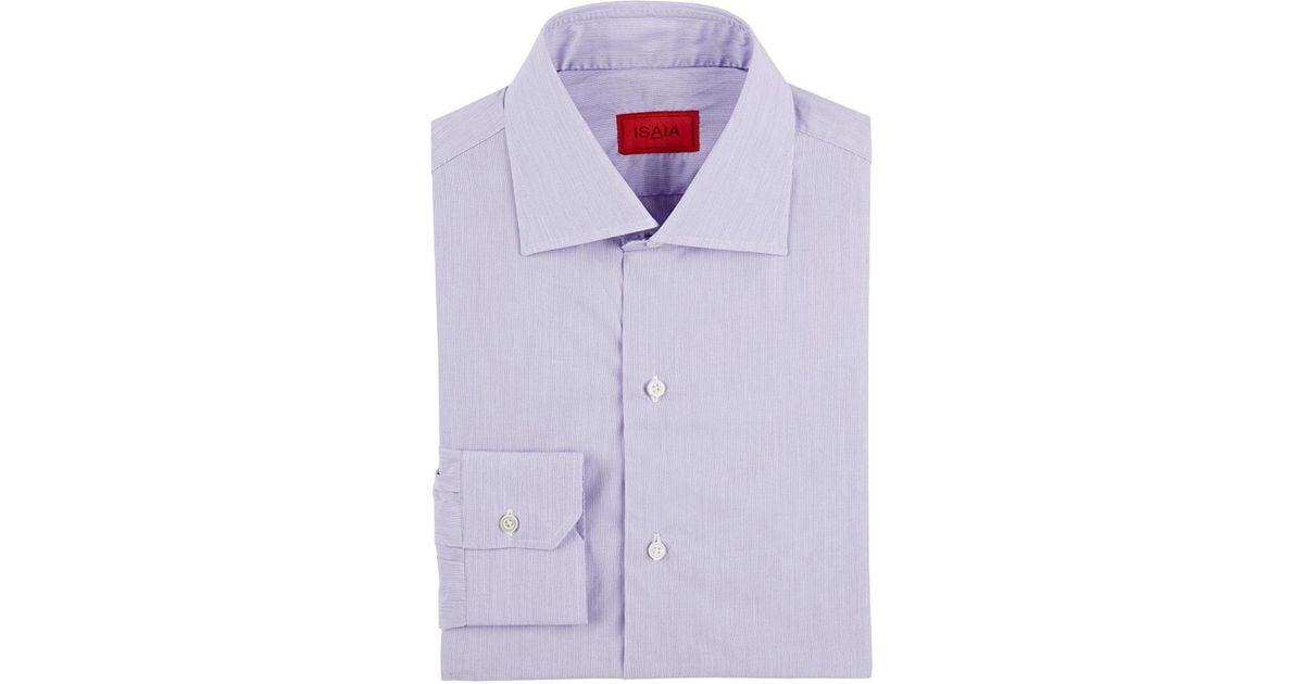 Mens Hairline-Striped Cotton Poplin Shirt Isaia Sale Cheap Prices s2HKzV