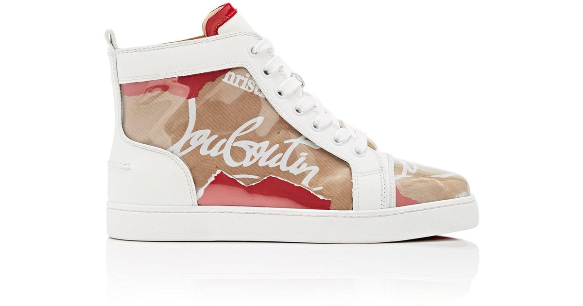 purchase cheap 0b505 214fb Christian Louboutin Multicolor Louis Kraft Leather And Pvc High Top Trainers