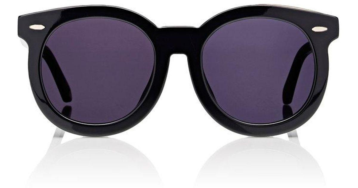 3137fdce204 Lyst - Karen Walker Alternate Fit Super Duper Thistle Sunglasses in Black