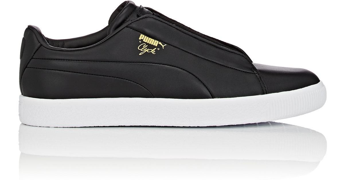 Lyst - PUMA Clyde Fashion Leather Sneakers in Black for Men 042b10ab1