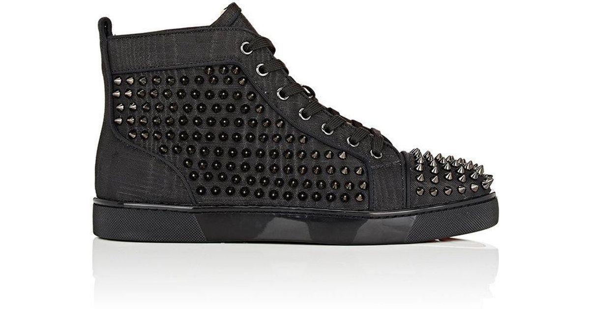 e7a543ff0c9 Christian Louboutin Black Louis Flat Leather Sneakers for men