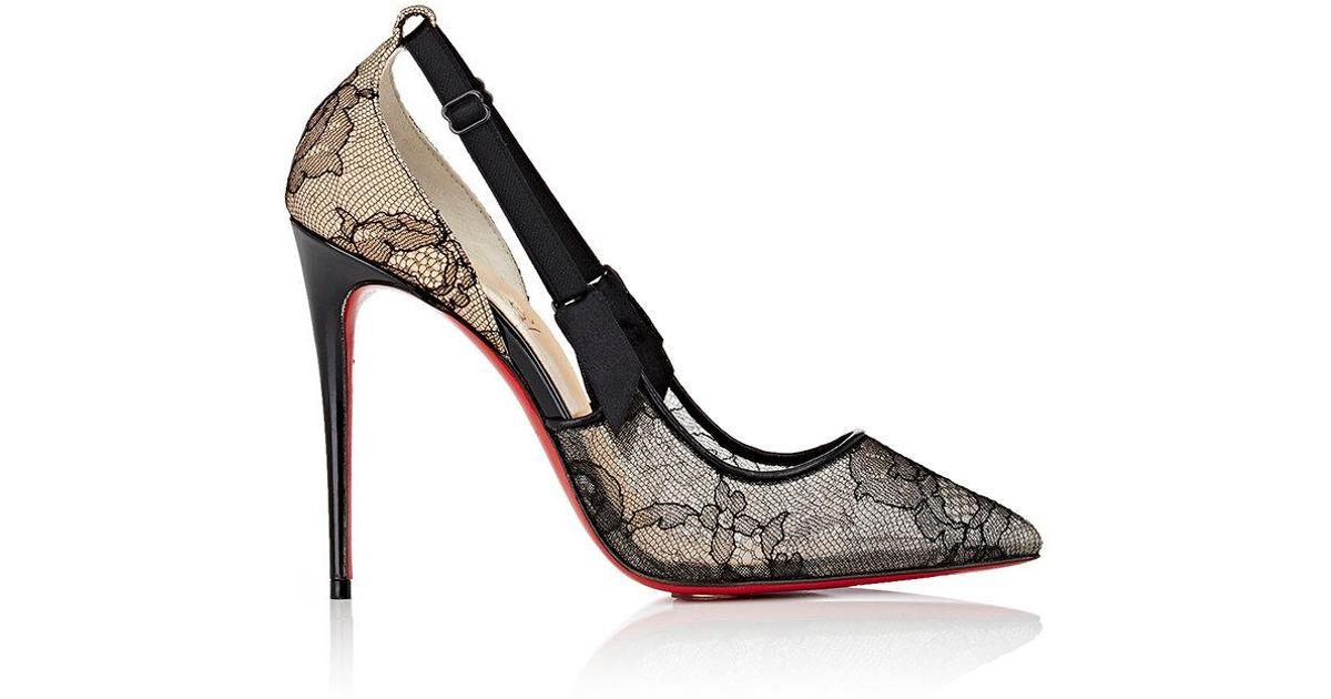 separation shoes 383dc 86934 Christian Louboutin Gray Hot Jeanbi Lace D'orsay Pumps