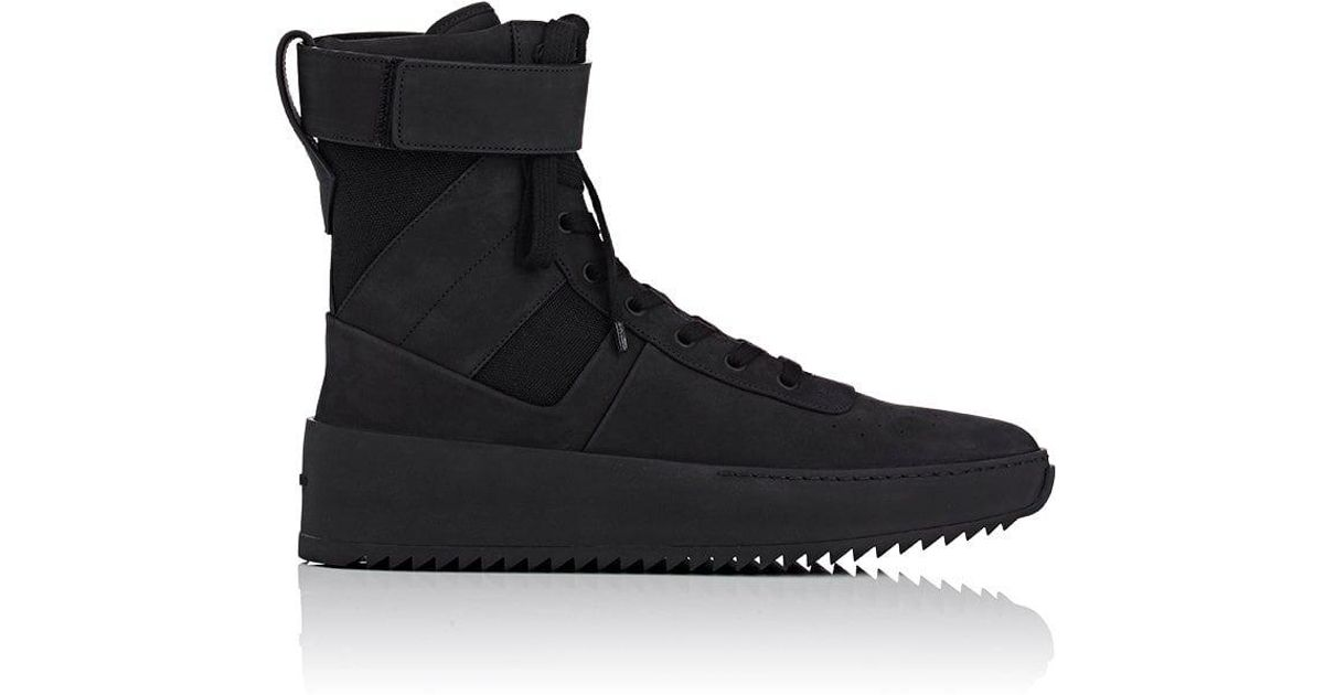 ddcb68840a32 Lyst - Fear Of God Military Nubuck Sneakers in Black for Men