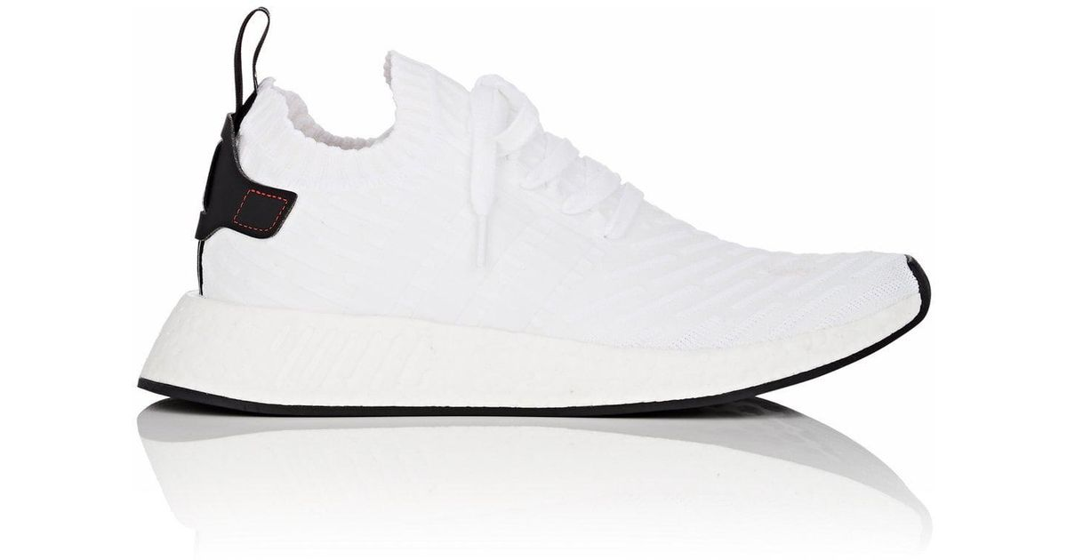 best sneakers 384b0 10c33 Adidas - White Nmd R2 Primeknit Sneakers for Men - Lyst