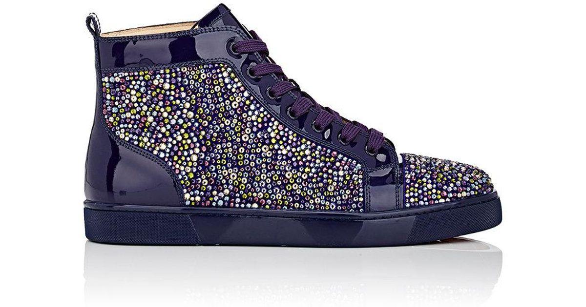 timeless design 8ec08 9d2ab Christian Louboutin Purple Louis Flat Patent Leather Sneakers for men
