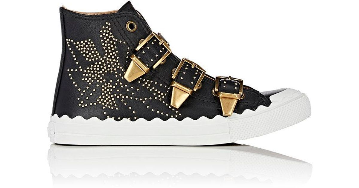 Womens Kyle Studded Leather Sneakers Chlo 9SSYf