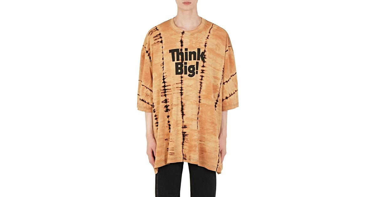80f72cb20 Balenciaga think Big! Cotton Oversized T in Natural for Men - Lyst