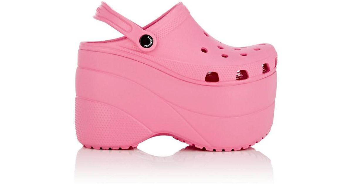 708c72ea492 Lyst - Balenciaga Foam Platform Clogs in Pink