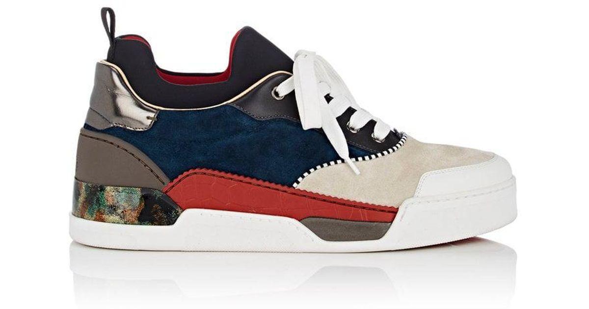 innovative design e0df7 203a6 Christian Louboutin White Aurelien Flat Sneakers for men