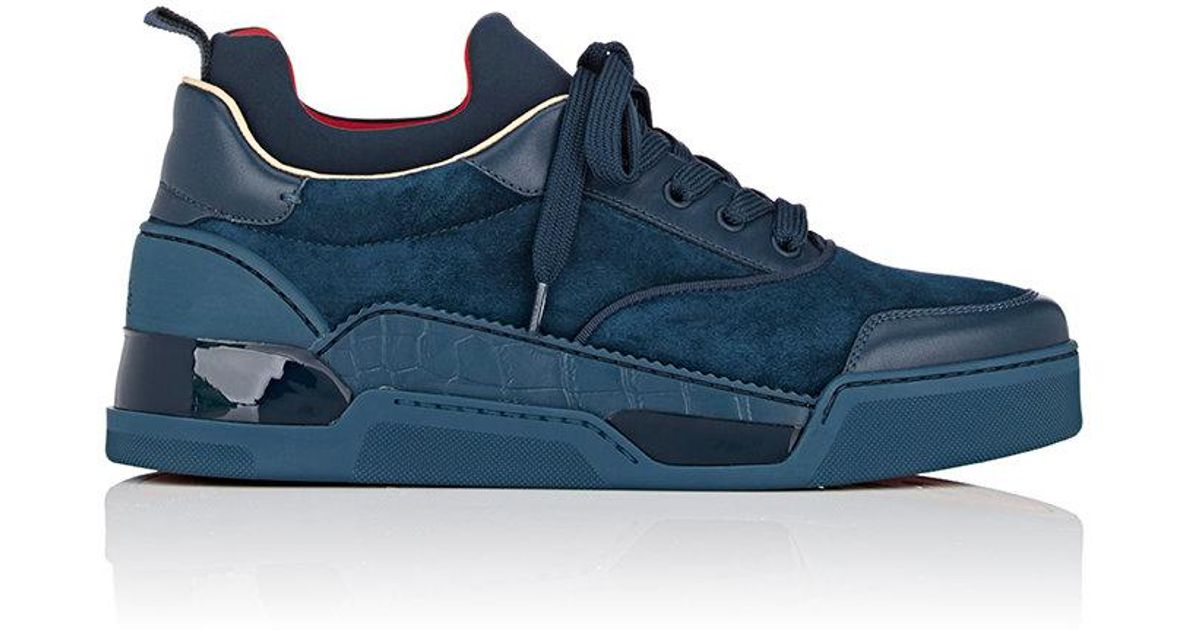 0fd9b2c94d4 Lyst - Christian Louboutin Aurelien Flat Sneakers in Blue for Men