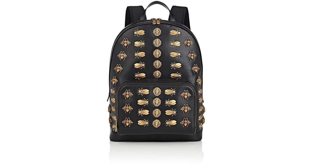 aded4cc5a605 Lyst - Gucci Embellished Backpack in Black