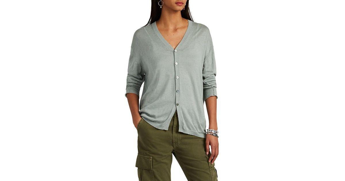 Pas De Calais - Green Cotton-blend V-neck Cardigan - Lyst 1fd4abb23