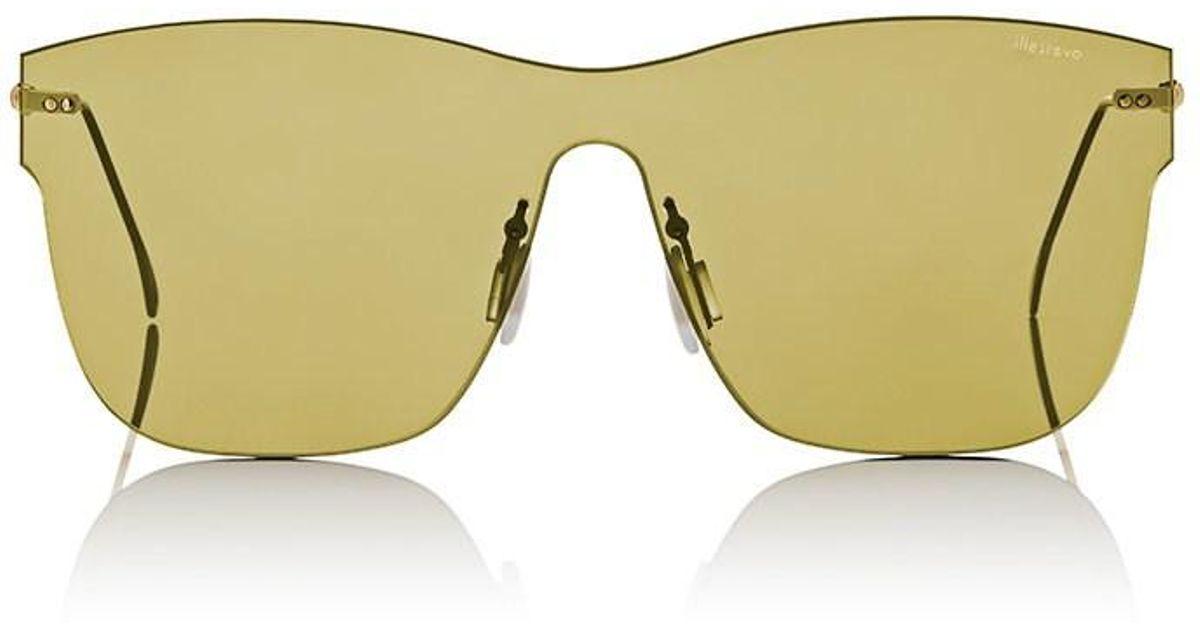 5afd0b74f889 Lyst - Illesteva Newbury Sunglasses in Metallic