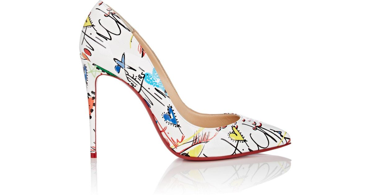 0610eb17cfb6 ... shop lyst christian louboutin pigalle follies patent leather pumps in  white 66e14 68861