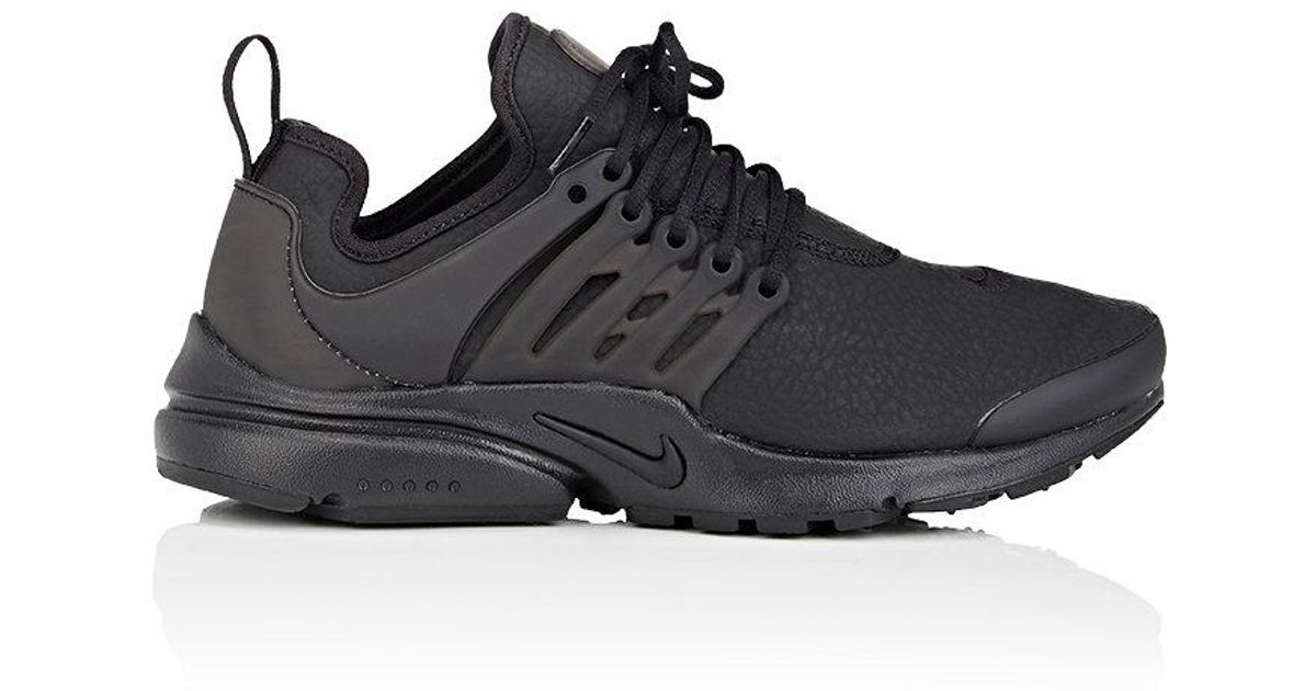 best value new release casual shoes Nike Black Air Presto Premium Leather Sneakers for men