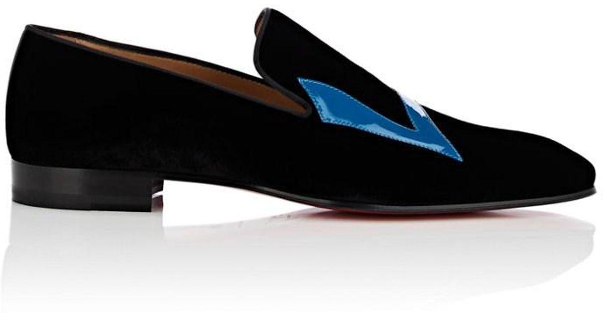 2448c6e6c0bb Lyst - Christian Louboutin Dandylove Velvet Venetian Loafers in Black for  Men