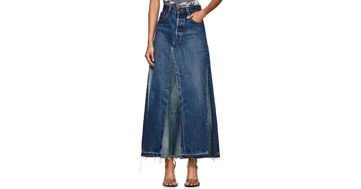fde99796fc Needles Denim Maxi Skirt in Blue - Lyst