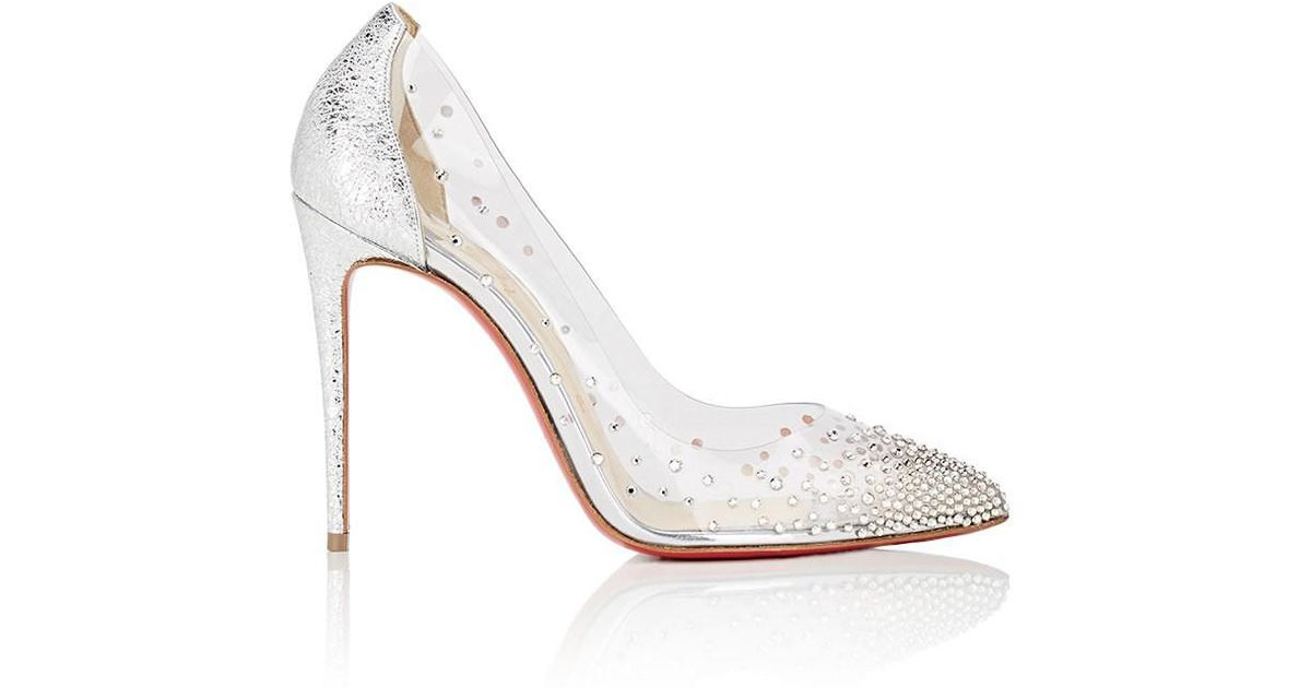 a709c25f6550 Lyst - Christian Louboutin Degrastrass Pvc   Specchio Leather Pumps in  Metallic
