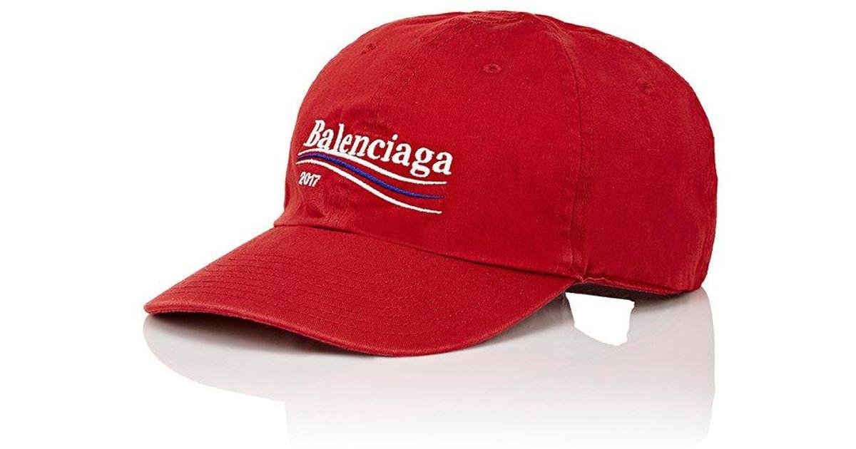 aa3a2bebc Balenciaga Red Logo Baseball Cap for men