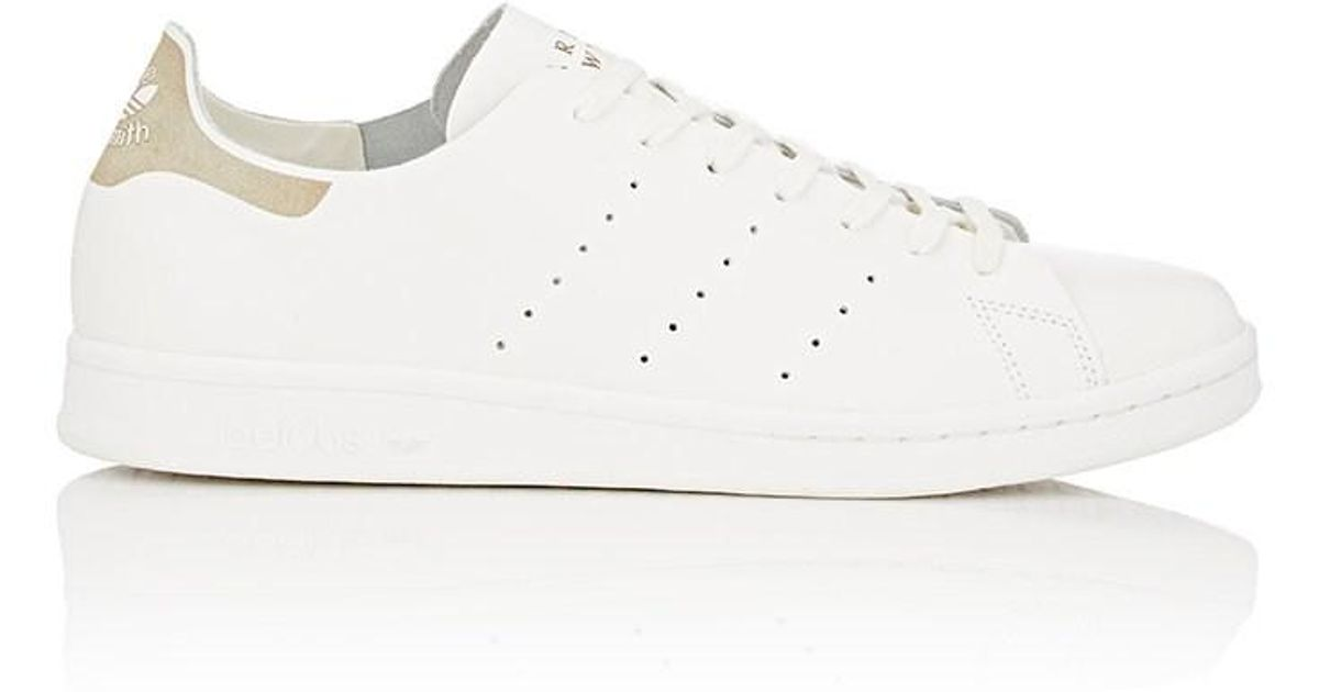 Adidas White Bny Sole Series: Deconstructed Stan Smith Sneakers for men