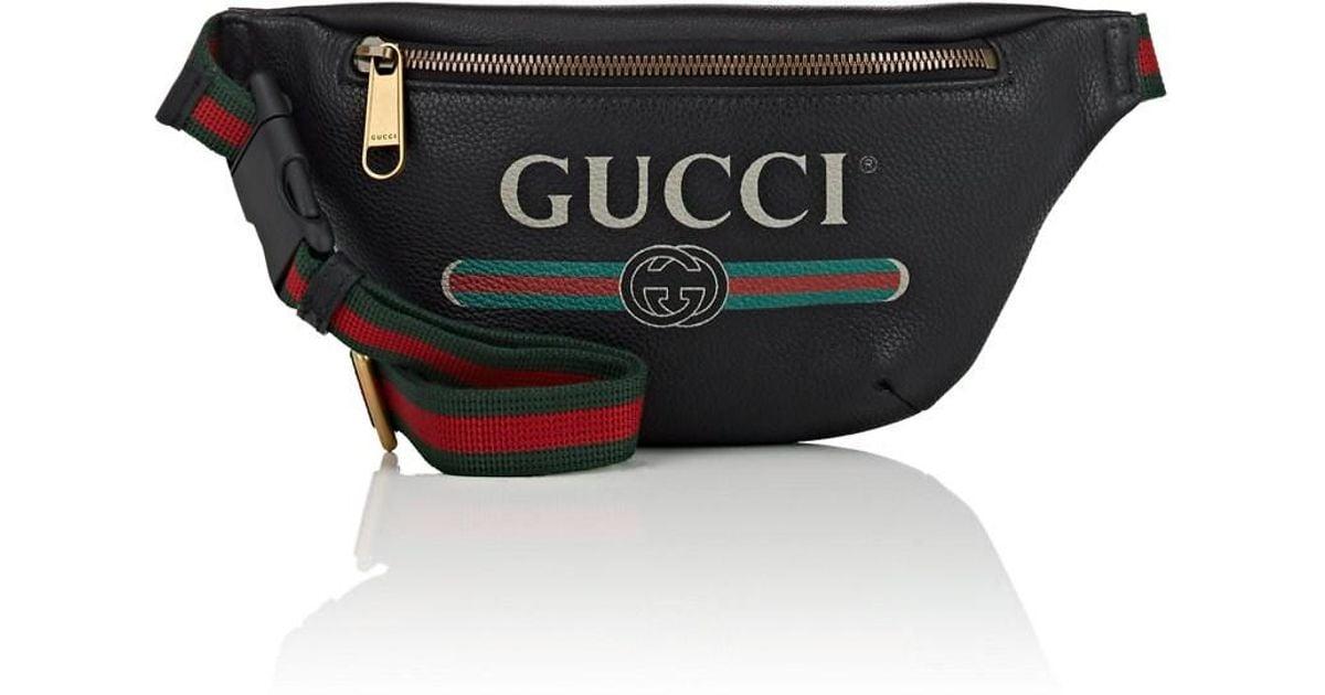 8bb49ae8 Gucci Black Print Small Belt Bag