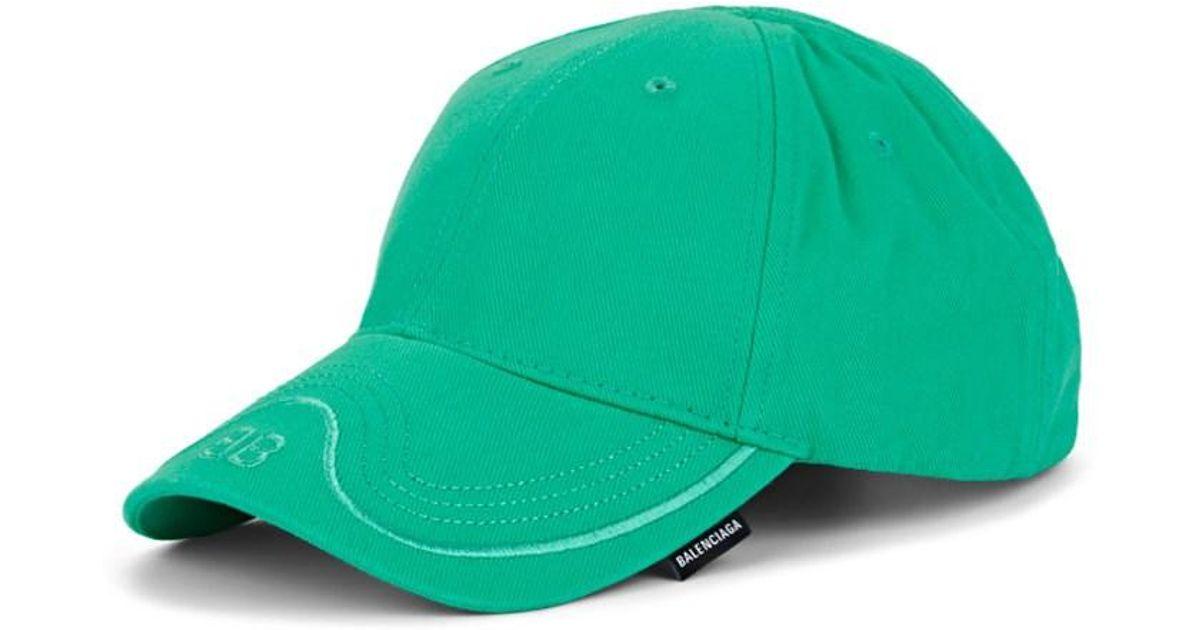 ac2d4a84 Lyst - Balenciaga Bb-logo Cotton Twill Baseball Cap in Green for Men