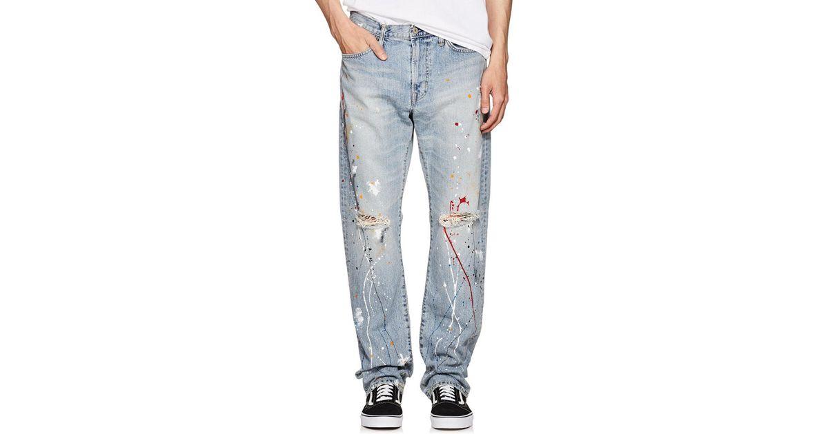 sports shoes d0d1e 116c6 Edwin Blue Paint-splatter Straight Jeans for men