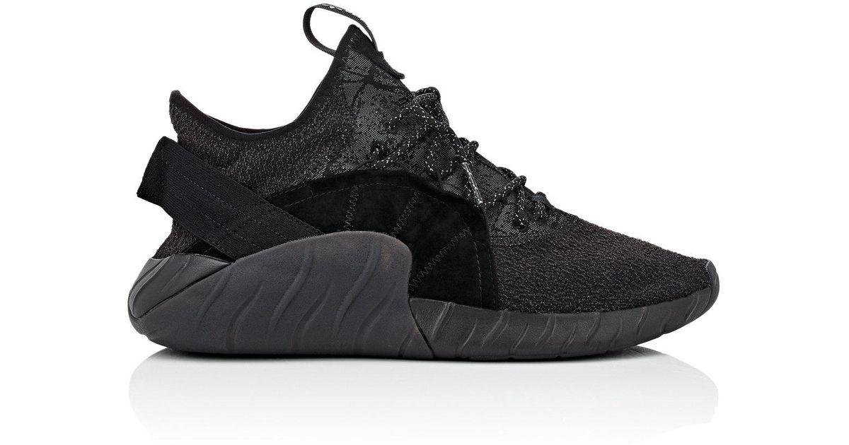 Adidas Black Tubular Rise Primeknit Sneakers for men