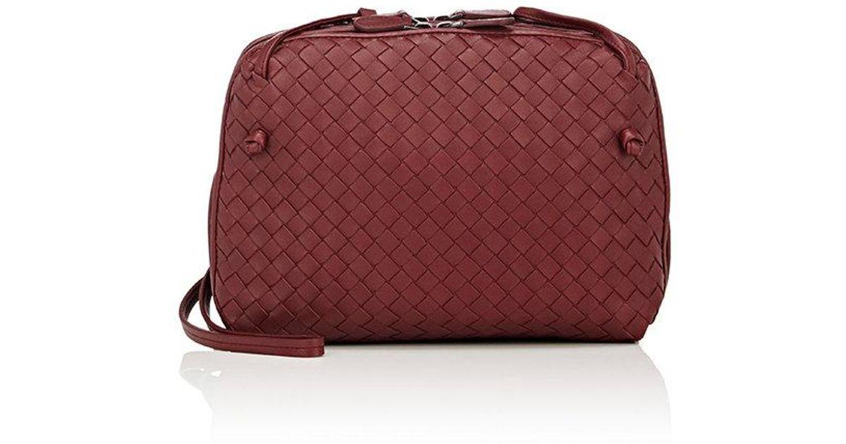 242b53c1b936 Lyst - Bottega Veneta Intrecciato Double Messenger Bag in Purple