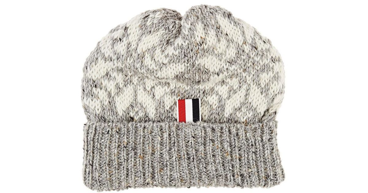 Lyst - Thom Browne Fair Isle Snowflake-pattern Wool in Gray for Men a032d4686bc9