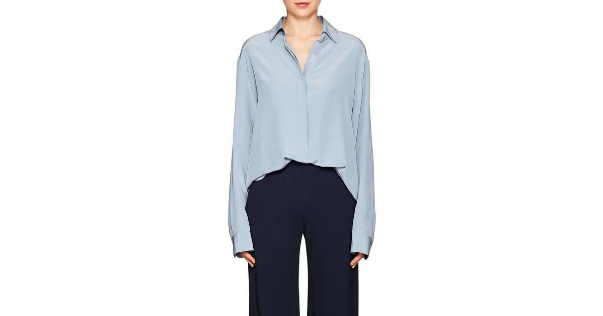 Womens Big Sisea Silk Crêpe De Chine Shirt The Row Quality Original tcVbN