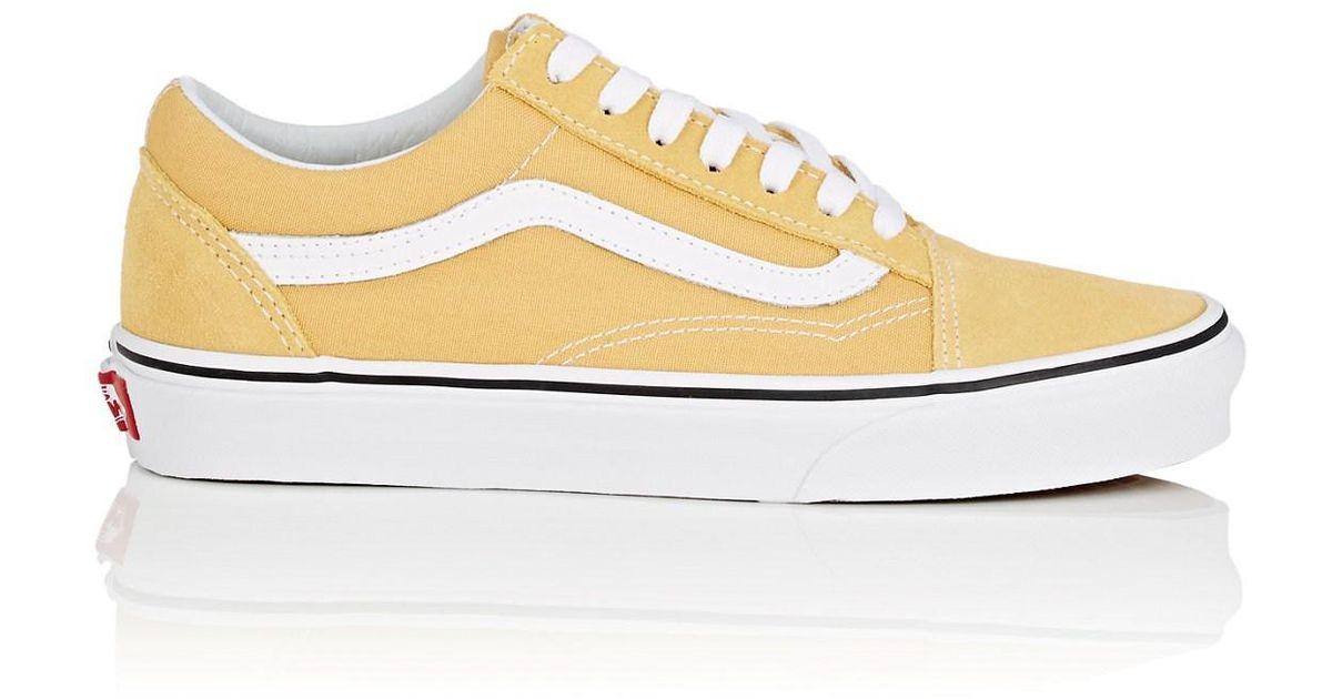 dd03cdb2e0 Lyst - Vans Old Skool Suede   Canvas Sneakers in Yellow
