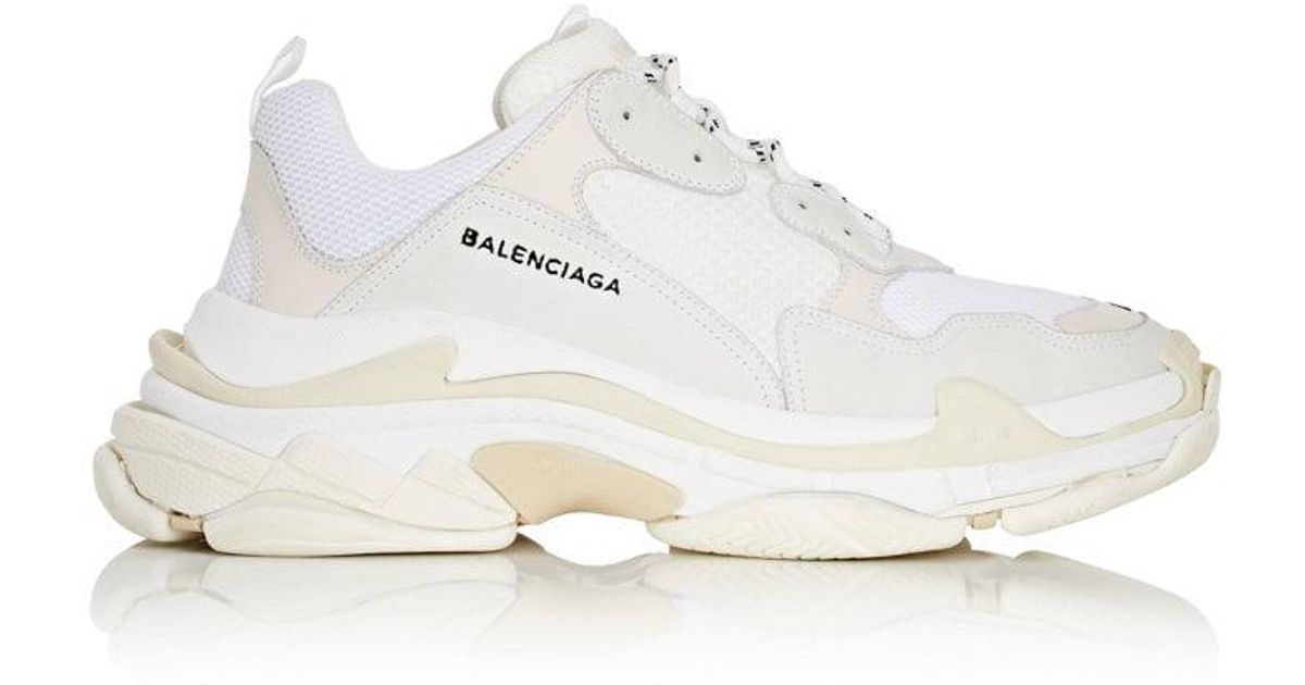 4f454ee9478f ... cheap lyst balenciaga triple s sneakers in white for men d821b 57288