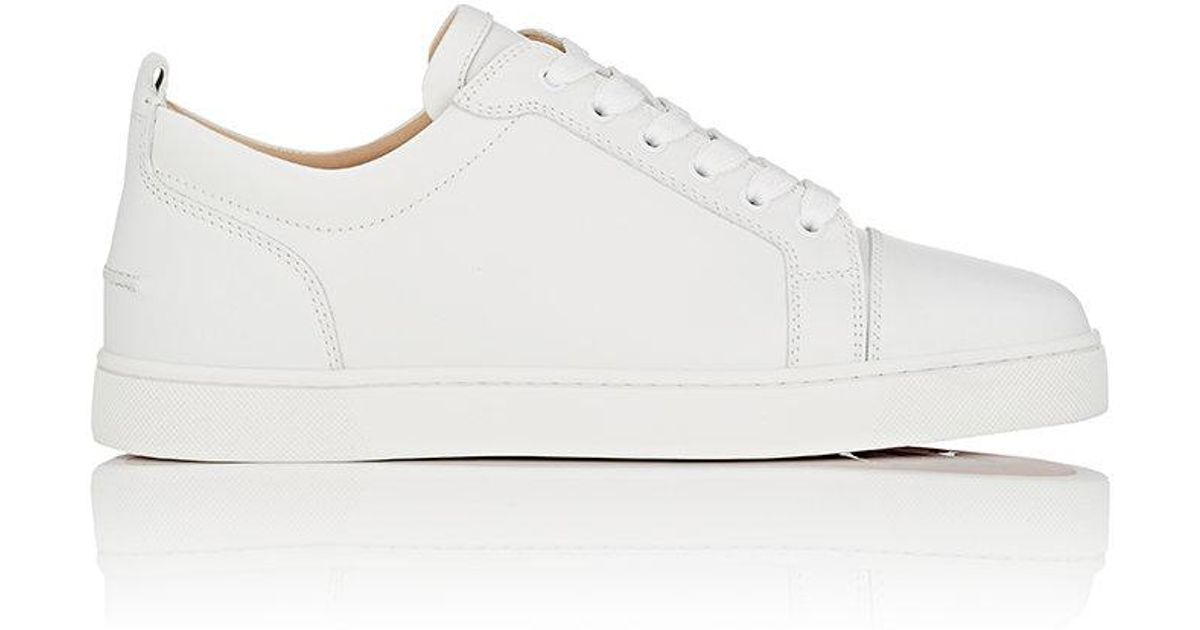 1c528a7bffb Lyst - Christian Louboutin Louis Junior Flat Leather Sneakers in White for  Men