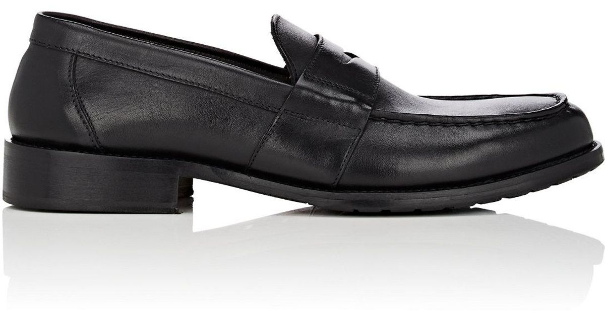 3f44699b638 Bruno Magli Canelo Leather Penny Loafers in Black for Men - Lyst
