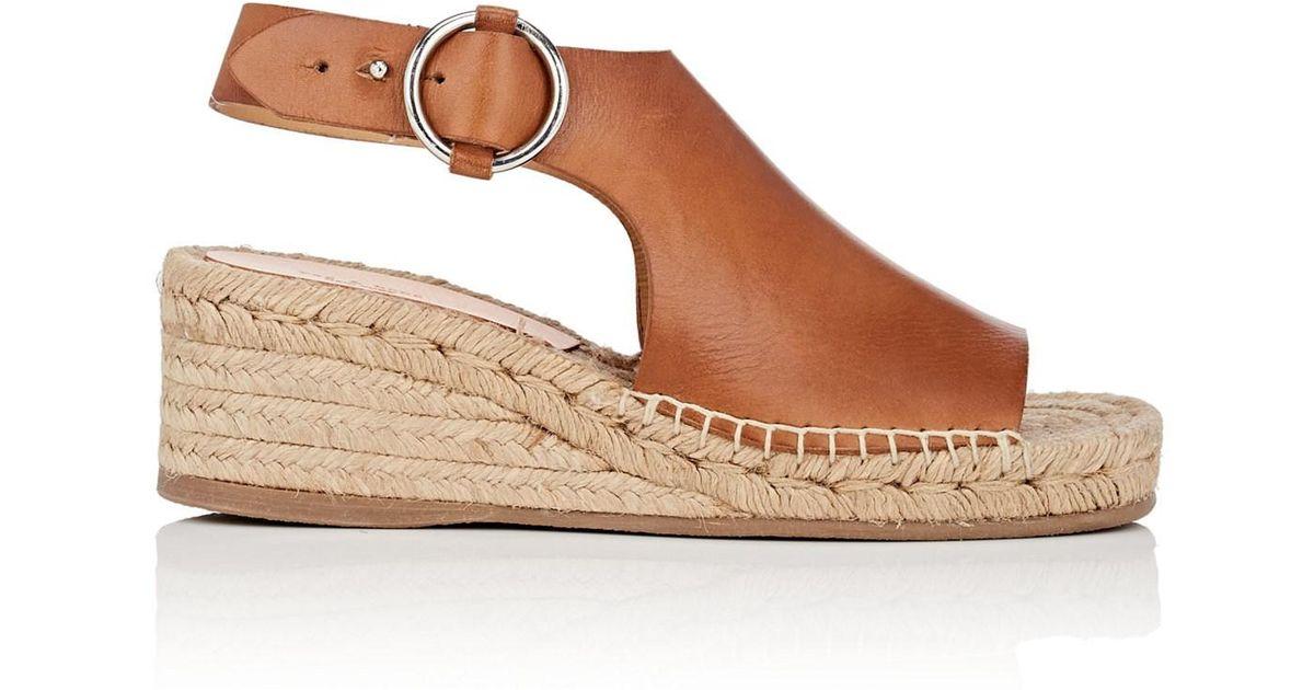 b74a6c84b76 Lyst - Rag   Bone Calla Leather Wedge Espadrille Sandals in Brown