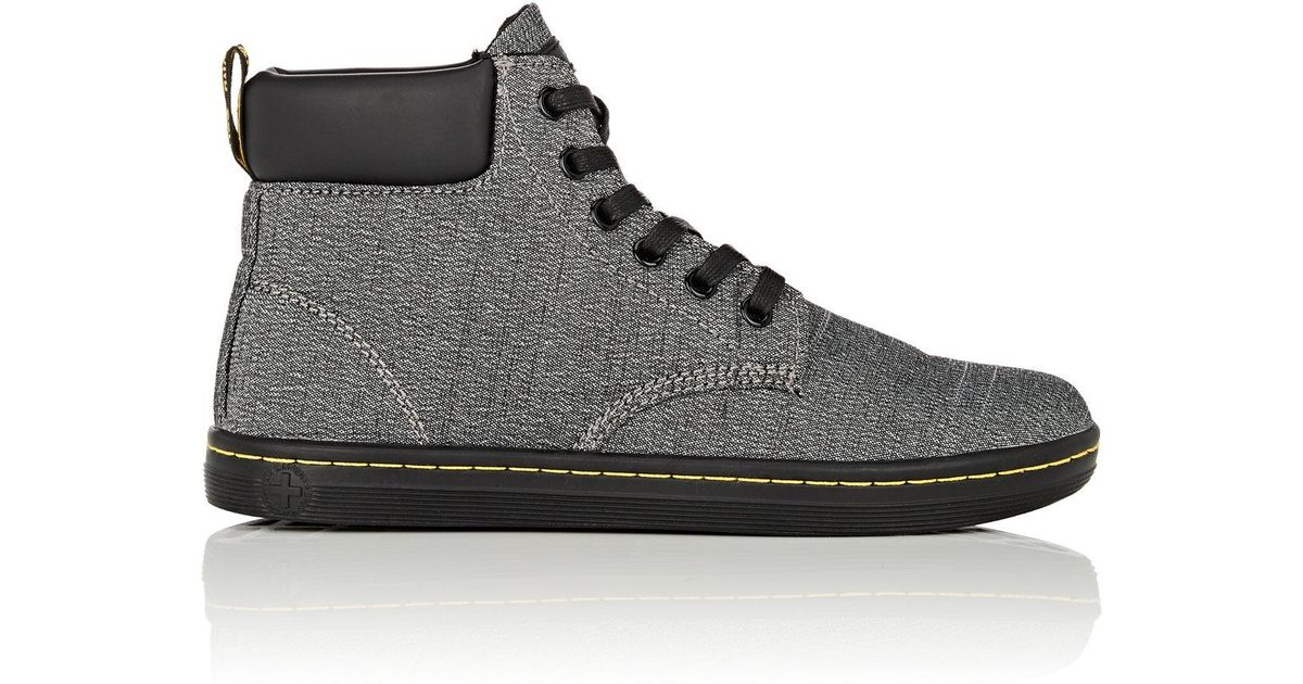 Lyst - Dr. Martens Maelly Canvas Ankle Boots in Gray for Men dac561a0096