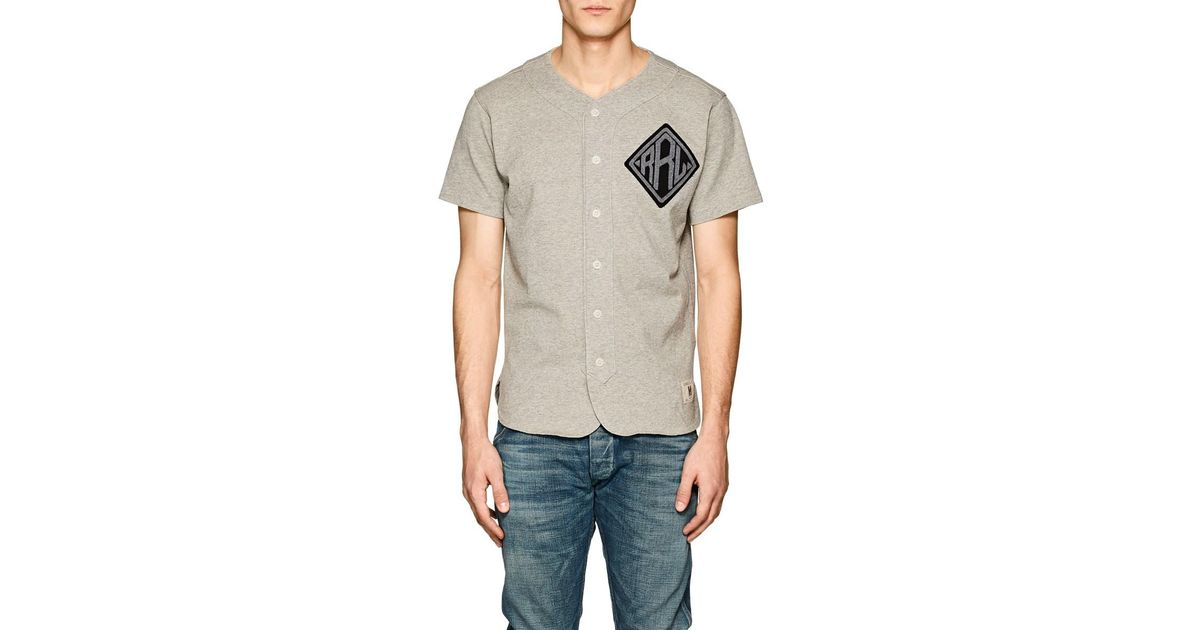 the best attitude ce3a2 81486 RRL Gray Cotton Baseball Jersey for men