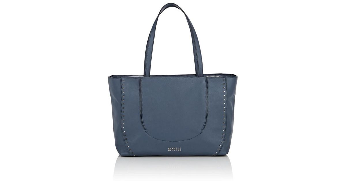6de5951fe8 Lyst - Barneys New York Studded Leather Tote Bag in Blue