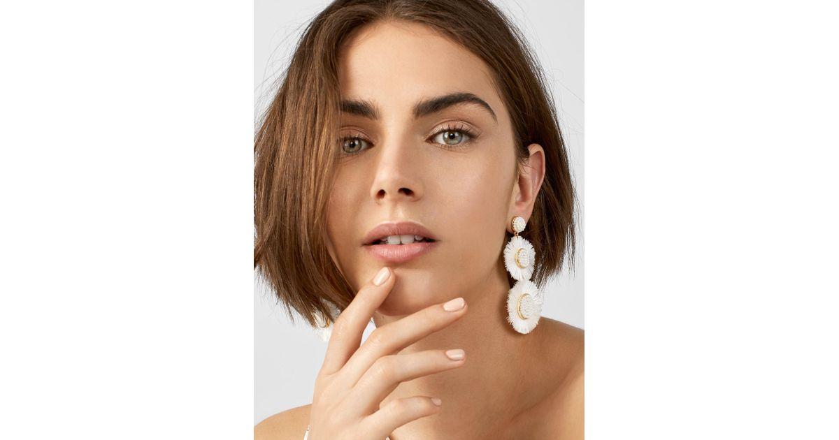 BaubleBar Multicolor Mariette Fringe Drop Earrings